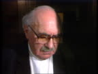 Heysel Riot convictions INT LS Lawyers in courtroom seen through door Sir Harry Livermore CMS Sir Harry Livermore interview SOT 'The percentage have...