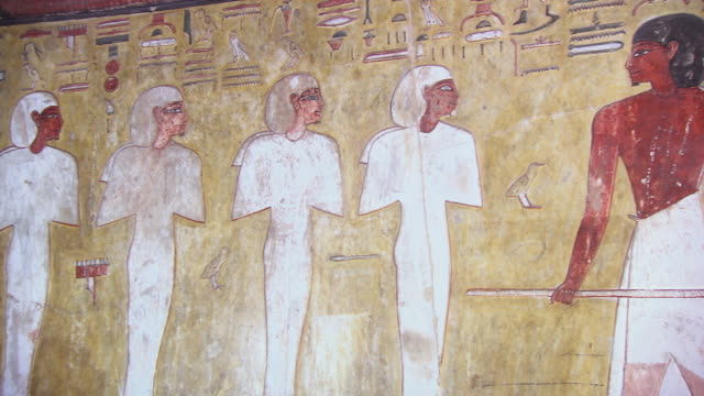 MS PAN Hieroglyphics painting in Tomb of Seti 1 / Egypt