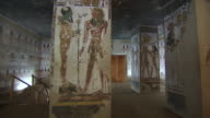 MS PAN Hieroglyphics paintings on columns and walls in the Tomb of Seti 1 / Egypt