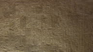 CU ZO Hieroglyphics symbols on the wall of Karnak Temple / Egypt