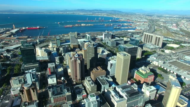 High above the Cape Town business district