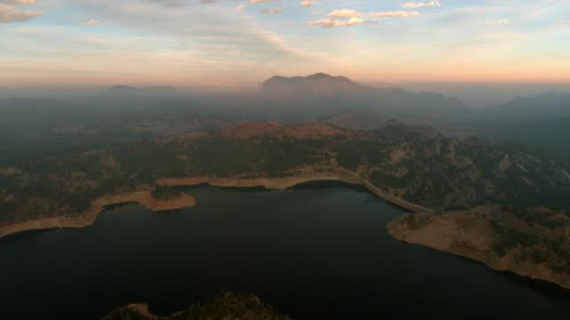 High aerial above a reservoir