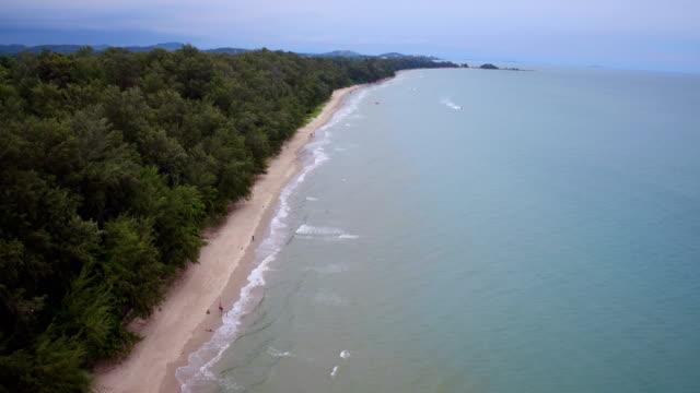 High angle beach