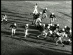 B/W high angle of touchdown in football game / Mobile AL / NO
