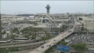 High Angle Shot Of Road At Entrance To LAX Airport on May 02 2012 in Los Angeles California