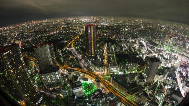 T/L,High angle shot of Tokyo at night.