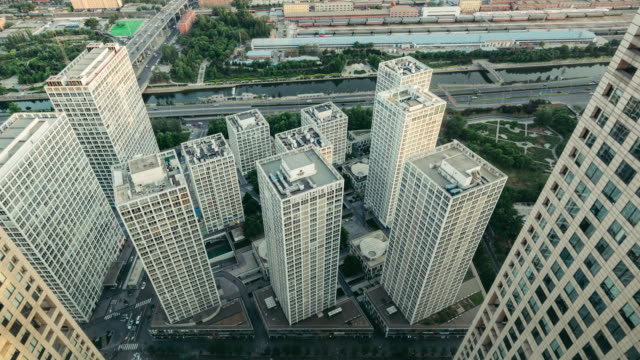 T/L PAN hoge hoekmening van Peking Central Business District