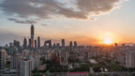 T/L WS ZI High Angle View of Beijing Skyline, Day / Beijing, China