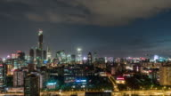 T/L WS ZI High Angle View of Beijing Skyline, Night / Beijing, China