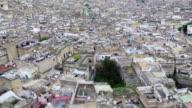 High angle view of cityscape, Fez, Morocco
