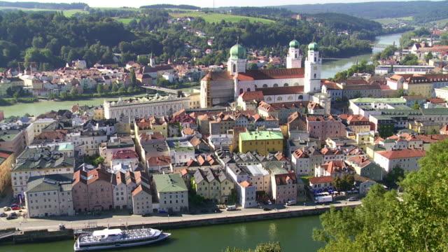 High Angle View of Passau in Bavaria PAN