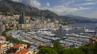 High angle,Zoom-in, Yacht Harbour,Port Hercule,La Condamine
