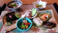 High class of sashimi set in luxury resort , Tokyo , Japan