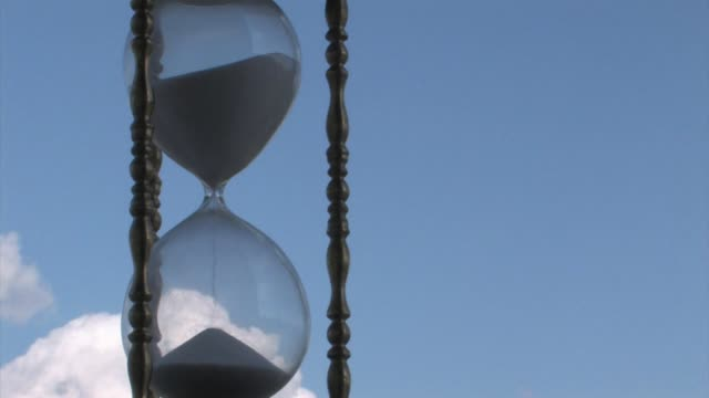High Definition HD Hourglass Time Lapse with Cloud Background
