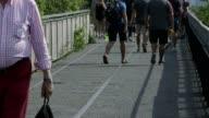 High Line park pedestrian foot traffic
