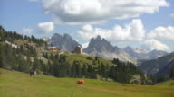High Mountain Pasture in the Sesto Dolomiten in South Tyrol