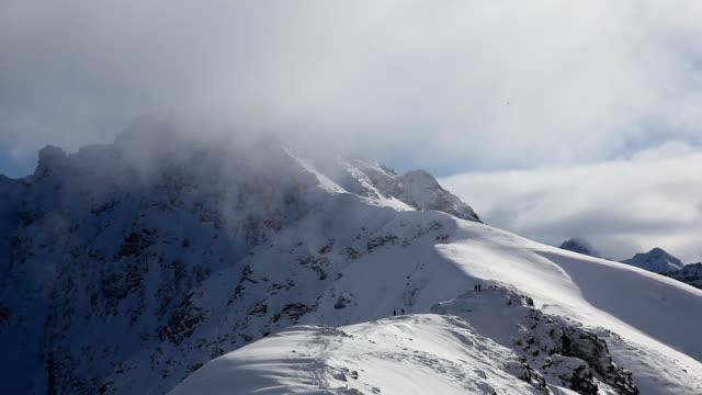 High Mountain Summit in clouds, Winter, Poland, Nature