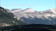 High Mountains In Alpes Maritimes  - Aerial View - Provence-Alpes-Côte d'Azur, Alpes-de-Haute-Provence, Arrondissement de Castellane, France