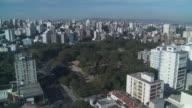 High rises surround a wooded park in Porto Alegre, Brazil.