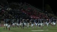 High school football game at Legacy Stadium in Aurora Colorado between Cherokee Trail High School and Grandview High School