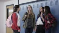 High school girls bullying another student at school