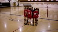 High-School-Mädchen-Volleyball