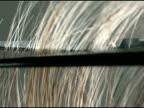 CU high speed blonde hair cutting