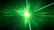 High Speed / Light Speed / Space Animation (Green) - Loop