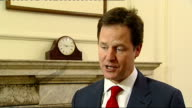 Government gives go ahead Nick Clegg interview ENGLAND London INT Nick Clegg MP interview SOT No this is a cabinet decision really great news for the...