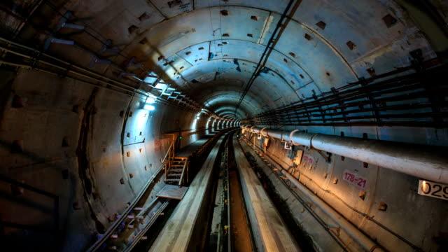 T/L A high speed ride through a subway tunnel