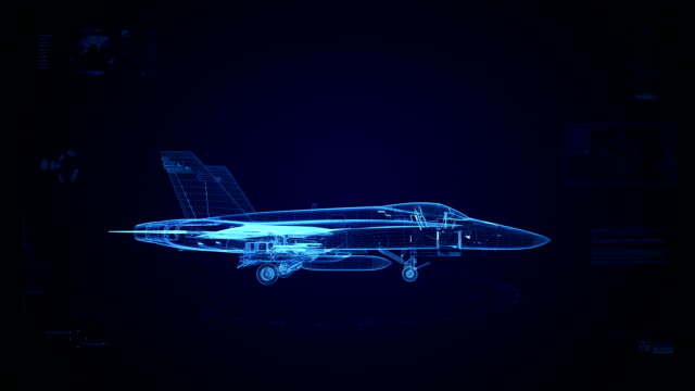 High tech fighter jet background