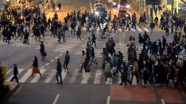 high view : Pedestrians travel at Shibuya