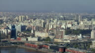 WS PAN High-angle view West across Puerto Madera canal / Buenos Aires,  Argentina