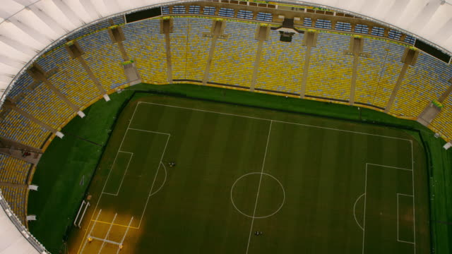 High-definition aerial shot of Maracaṇ Stadium - World Cup, Brazil.