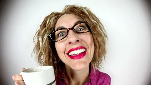 Zeer cafeïnehoudende vrouw