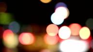 Altamente sfocato luci di strada