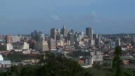 ES High-rise buildings in Durban city skyline / Durban, Kwa Zulu Natal, South Africa