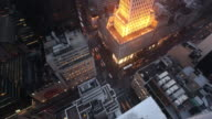 T/L WS HA ZO High-rise office buildings and busy streets in Midtown, dusk to night, New York City, New York, USA