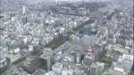 High-rises tower over the Sakae district in Nagoya, Japan.