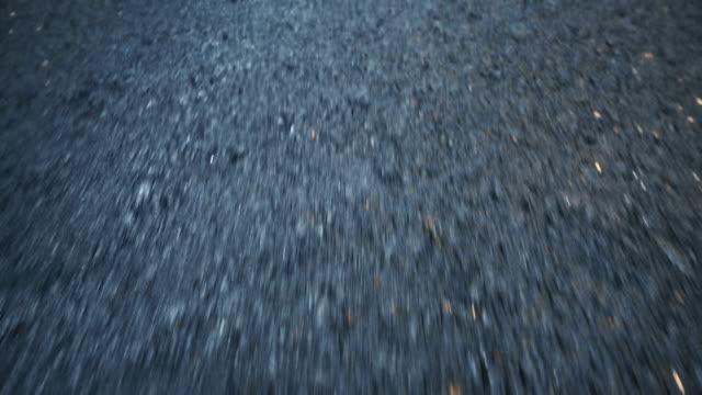 High-speed Car POV of a Highway asphalt