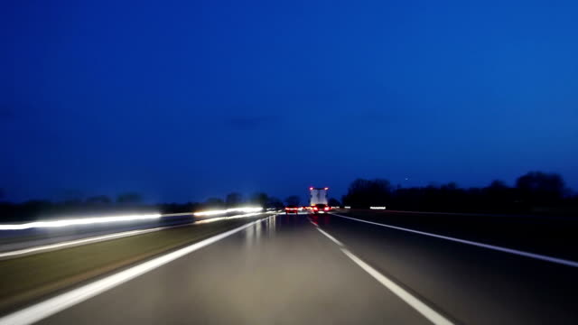 High-speed drive at Dusk