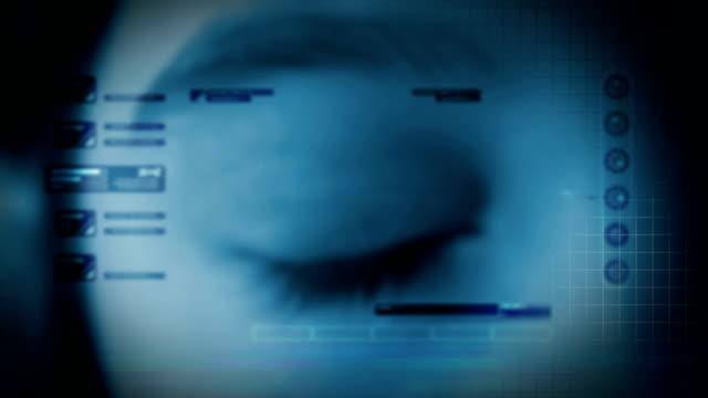 High-tech eye animation