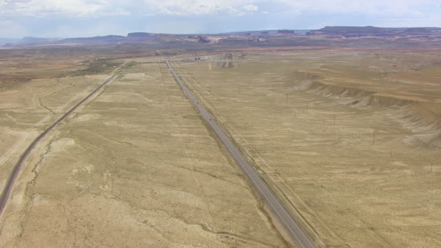 WS AERIAL Highway 191 in Colorado plateau en route from buffalo to Moab / Utah, United States