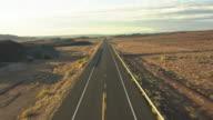 WS AERIAL ZI ZO highway 89 through Painted Desert in Coconino County / Arizona, United States