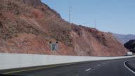 MS TS Highway  along  dam / Arizona, USA