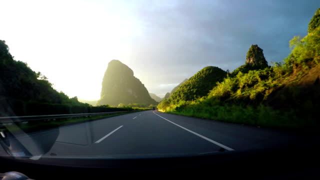 Highway hillside