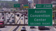 Highway Sign for the Austin Convention Center Over Interstate 35