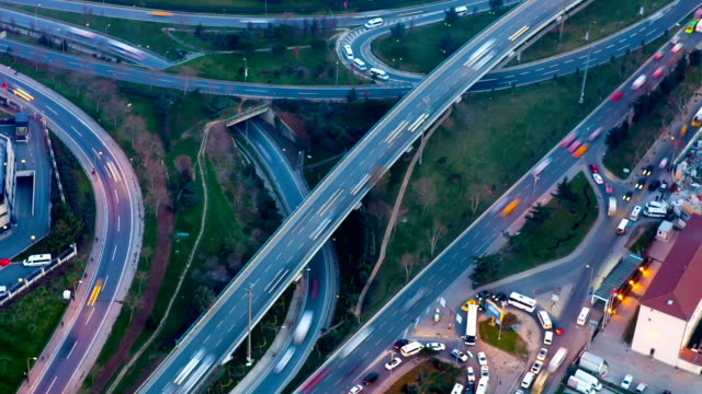 HD: Highway traffic aerial