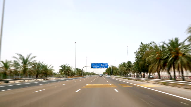 HD: Highway traffic in Abu Dhabi