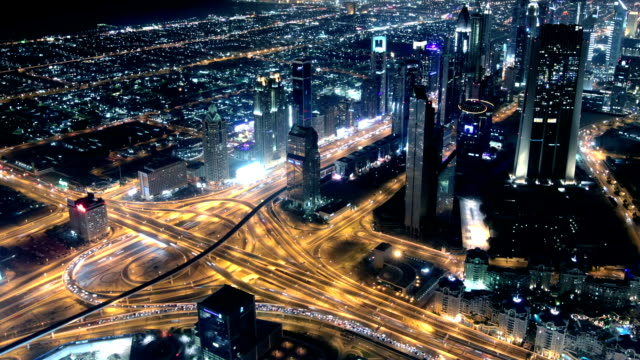Highway traffic in Dubai